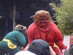 京都盧山寺での鬼踊り