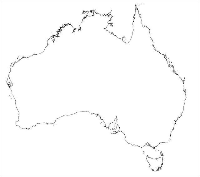 白地図オーストラリア