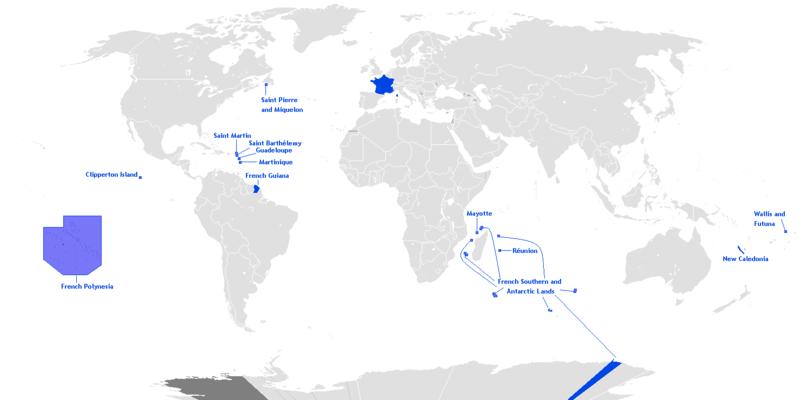 フランスの海外県 【仏語圏】フランス植民地帝国【海外県】
