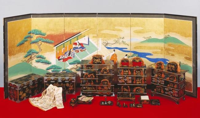 【滋賀】井伊直弼の娘、弥千代の嫁入り道具、ひなとひな道具を特別公開 彦根城博物館   ※画像