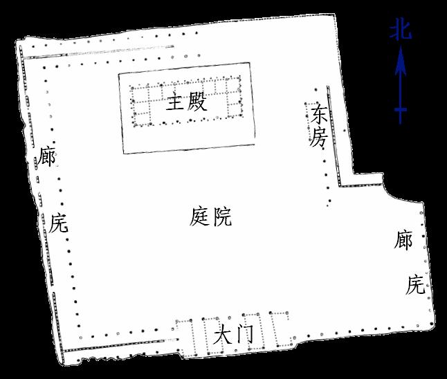 二里头一号宫殿平面图_zh_hans