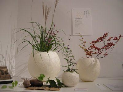 和紙の花器(金沢市長賞)