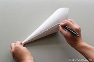 【DIY 和紙照明・あかり】製作型を作る(5:シャープペンシルで線をひく) (1)