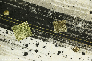 墨デザインの創作和紙3(アップ)