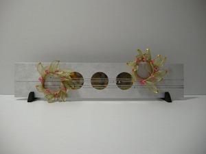 シルバーのパネルと合わせるとアーチがとても可愛らしいです(結納水引飾りリメイクパネル)