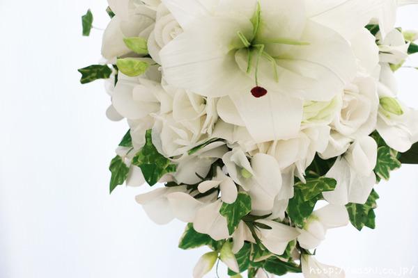 「結婚式の再現ブーケ」 結婚1周年 紙婚式に贈る和紙製の花束 (花部アップ)