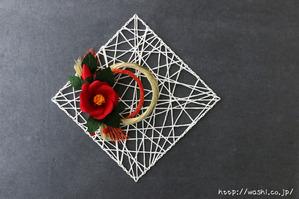 ペーパーフラワー・和紙花のお正月飾り(正面)