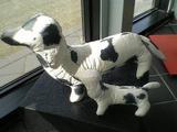 和紙製の犬親子(通常バージョン)紙衣