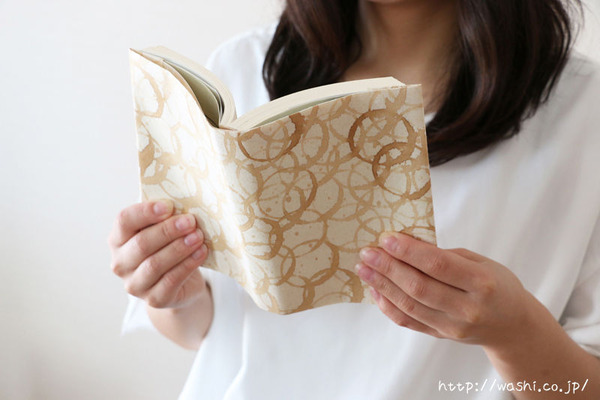 DIY ブックカバー!模様作りからおこなう和紙ブックカバー