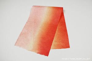 グラデーション染色和紙1(別アングル)