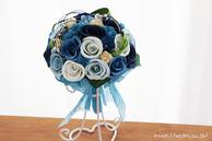 受注生産和紙ブーケ・花束(ブルー)結婚1周年の紙婚式プレゼント