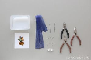 DIY和紙アクセサリー・和紙玉ハンドメイドピアスの作り方 (必要な材料・工具)