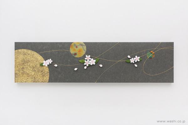 季節のうつろいを暮らしにも。モチーフで楽しむ和紙アートパネル (桜)