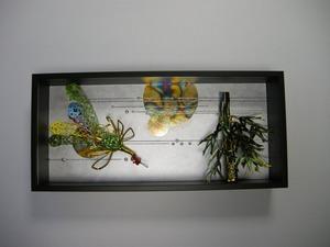 鳳凰と竹(結納水引飾りリメイク額)