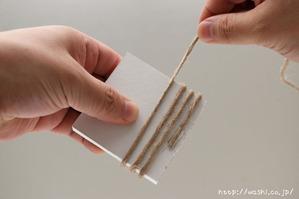 DIY ブックカバー!模様作りからおこなう和紙ブックカバー 線デザイン (1)