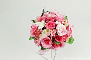 静岡県S様特注和紙ラウンドブーケ・花束(正面)