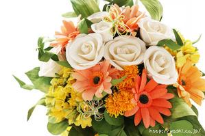退職祝いのプレゼント。オーダーメイドの和紙ブーケ(花束)アップ