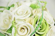 即日発送和紙ブーケ・花束 (ホワイト)結婚1周年の紙婚式プレゼント