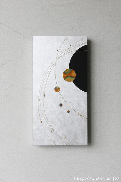 壁を彩るスタイリッシュな和紙アートパネル-和モダンインテリア