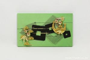 結納品リメイク事例|グリーン色のリメイクパネル (3)