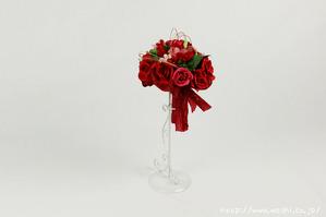 結婚1周年(紙婚式)のプレゼントにオススメの和紙ブーケ・花束(赤)
