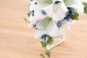 結婚記念日のカサブランカ和紙ブーケ・花束(2)
