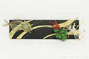 鶴&亀(W様の結納水引リメイクパネル)