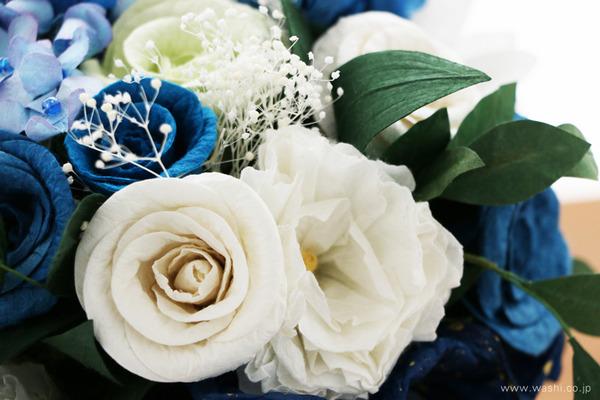 紙婚式記念日に贈る、心のこもった和紙製オーダーメイドフラワー (バラ)