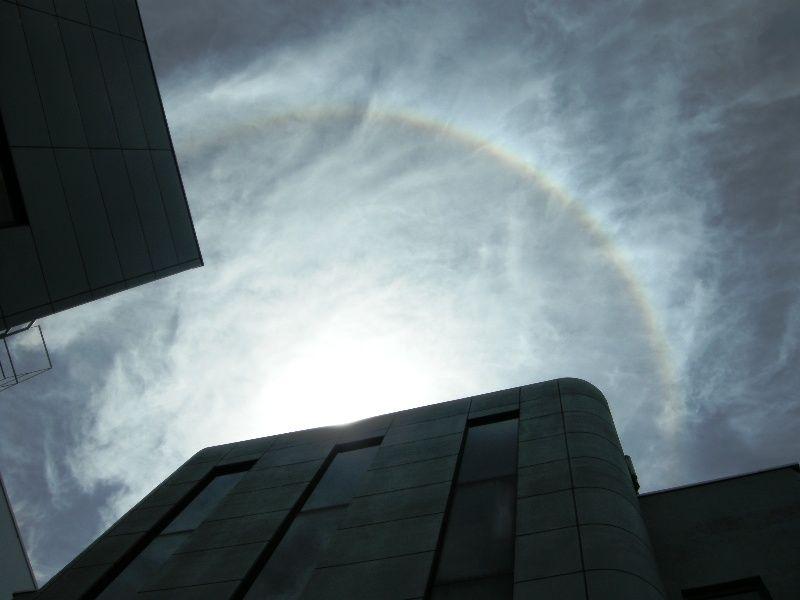 太陽の周りに出来る虹(ハロ(HALO)、暈)