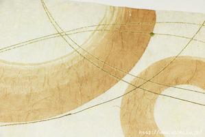 柿渋デザイン創作和紙(7)アップ