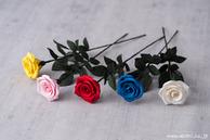 和紙の花 一輪の薔薇 (カラーバリエーション)
