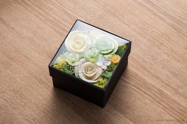 和紙の花オリジナルフラワーボックス新作・新色入荷 (中身が見える上蓋)