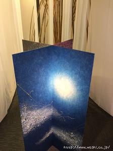 創作和紙三面屏風(2)