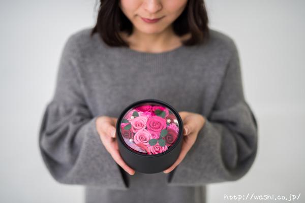 最愛の人に贈る和紙の花−ミニバラのボックスフラワー (2)