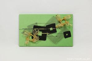 結納品リメイク事例|グリーン色のリメイクパネル (4)