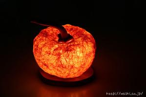 和紙のかぼちゃ(パンプキン)照明点灯時