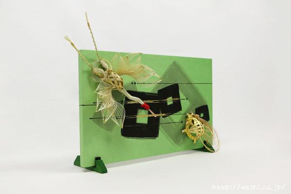 結納品リメイク事例|グリーン色のリメイクパネル (1)
