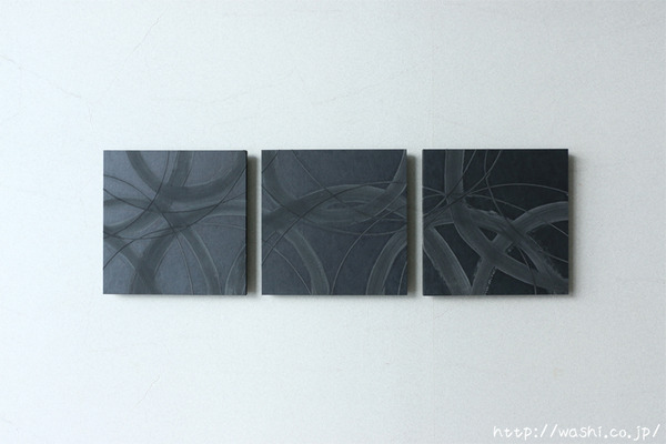 JAPANESE PAPER ART PANEL For restroom / Diatomaceous earth (珪藻土) (1)