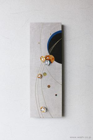 しっとりと落ち着いた雰囲気の結納品リメイクアートパネル (梅)