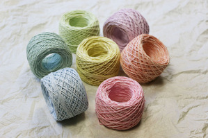 紙糸の新色(優しい色合い)