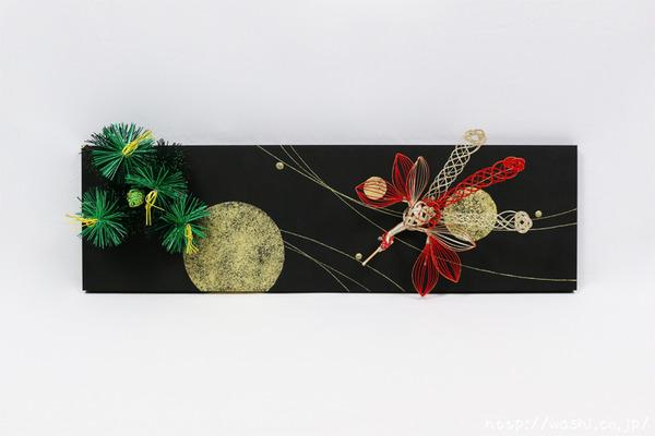 自由自在なスタイルを楽しめる!結納品リメイク・リフォームアートパネル (鳳凰と松)
