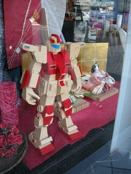 紙製ロボット(飾ってみました)