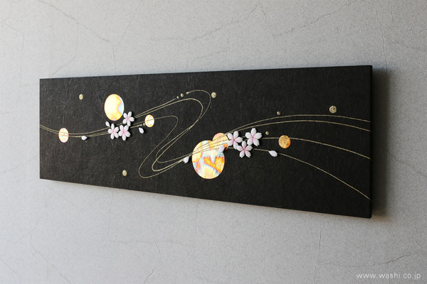 花や雪などのパーツを付け替えて、季節を楽しめるアートパネル (春・桜モチーフ)