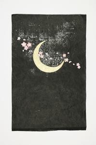 夜月をイメージした創作和紙です。