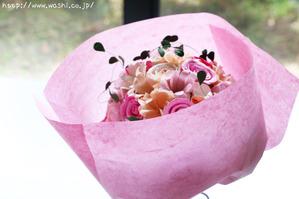 紙婚式のプレゼント(Y様オリジナル和紙ブーケ・花束)ラッピング
