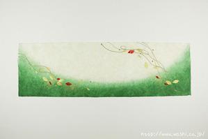 葉っぱモチーフの創作和紙