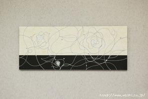 花柄和紙アートパネル(横向き設置例)2016年7月