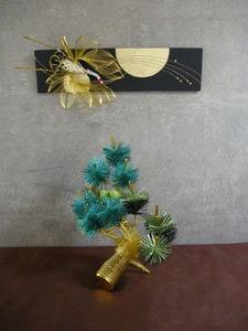 松と鶴の水引組合せ(結納水引飾りリメイクパネル)