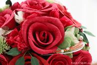 即日発送和紙ブーケ・花束 (レッド)結婚1周年の紙婚式プレゼント