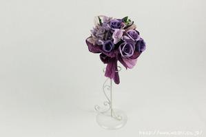 結婚1周年(紙婚式)のプレゼントにオススメの和紙ブーケ・花束(紫)